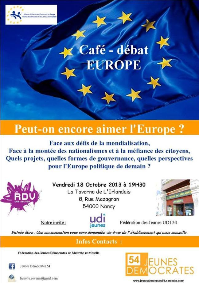 Invitation débat Europe 18.10.2013