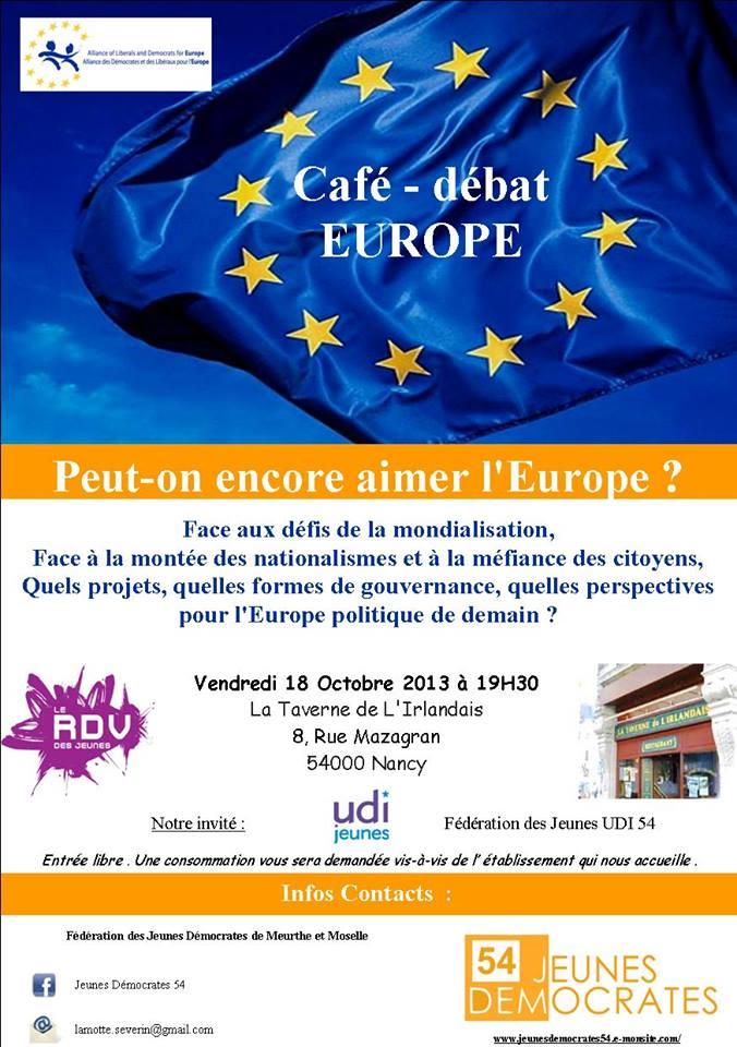 Invitation débat Europe 18.10.2013