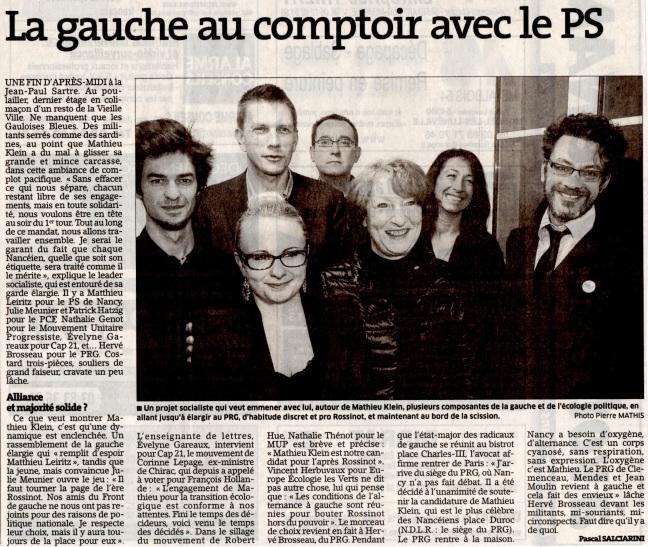 La gauche en comptoir avec le PS - E.R. 16.12.2013