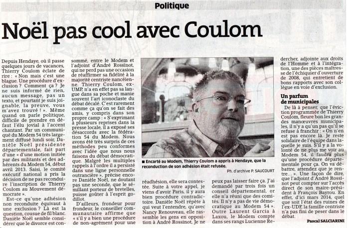 Noël pas cool avec Coulom