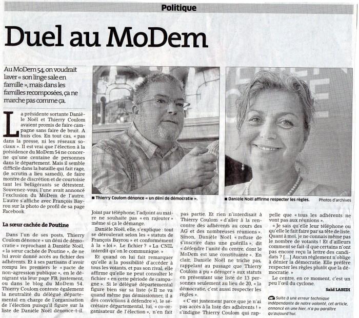 Duel au MoDem 13.11.2014