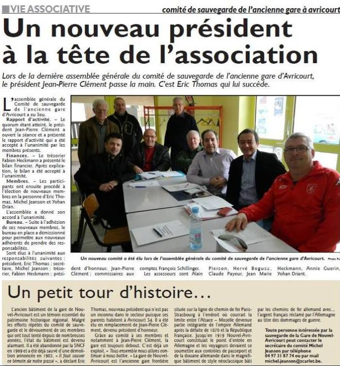 Comité sauvegarde Gare Avricourt RL - 22.04.2015